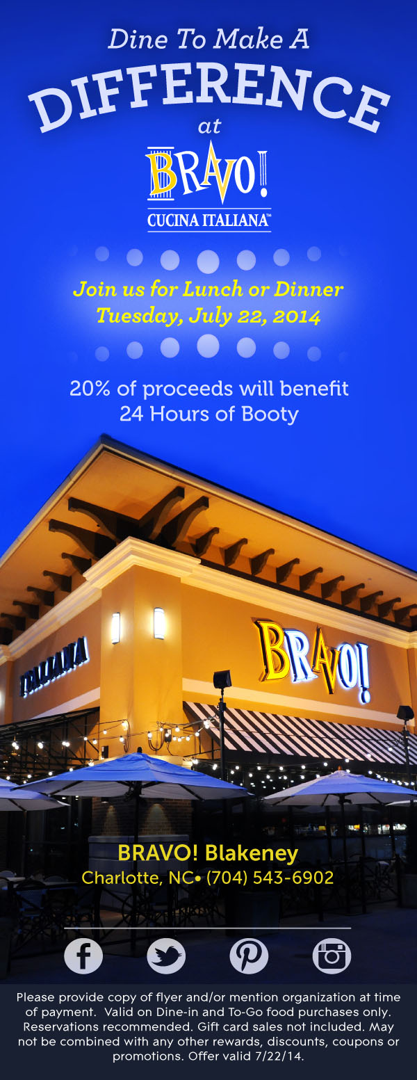 BRAVO 24 of Booty Dine to Donate
