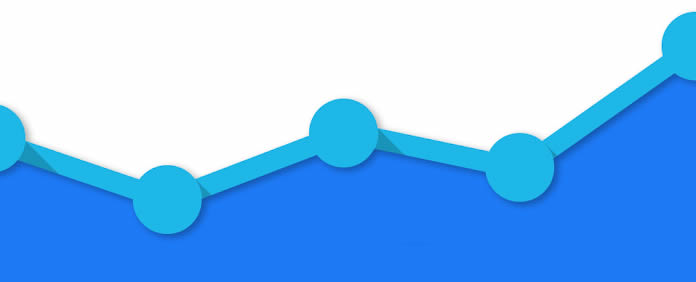 Google Analytics graphic blue graph